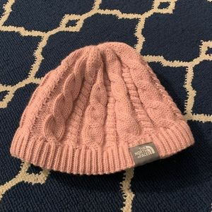 The North Face Pink Knit Beanie Hat
